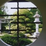 飾窓からの庭園